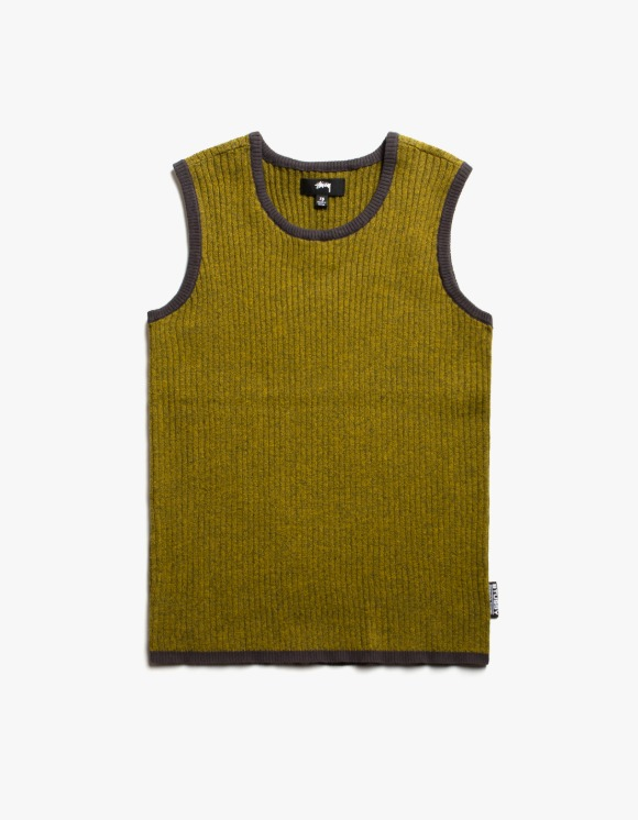 Stussy Talo Sweater Vest - Yellow Melange | HEIGHTS. | 하이츠 온라인 스토어