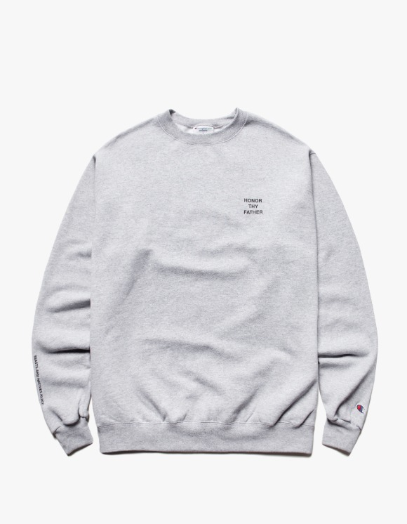 Beasts And Natives Alike FATHER Crewneck - Grey | HEIGHTS. | 하이츠 온라인 스토어