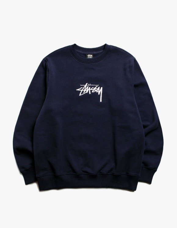 Stussy Stock App. Crew - Navy | HEIGHTS. | 하이츠 온라인 스토어