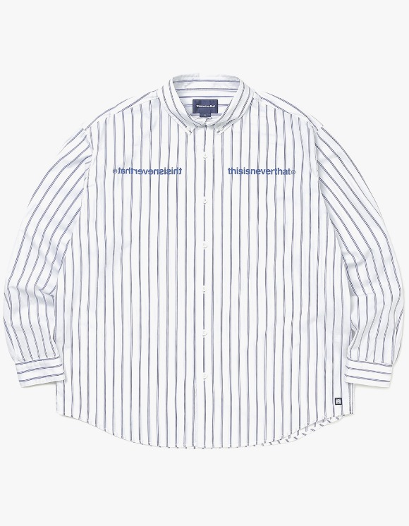 thisisneverthat MI-Logo Striped Shirt - White | HEIGHTS. | 하이츠 온라인 스토어
