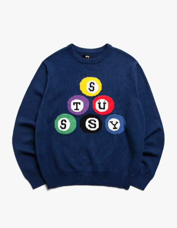 Stussy Stussy Billard Sweater - Navy | HEIGHTS. | 하이츠 온라인 스토어