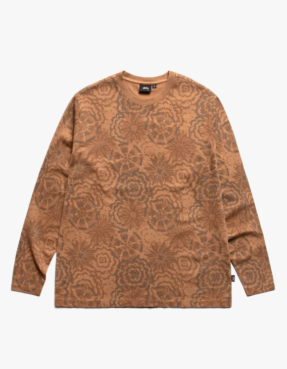 Stussy Flower L/S Crew - Brown | HEIGHTS. | 하이츠 온라인 스토어
