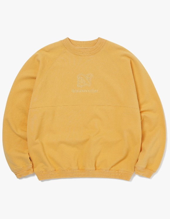 thisisneverthat Pipe RIB Crewneck - Yellow | HEIGHTS. | 하이츠 온라인 스토어