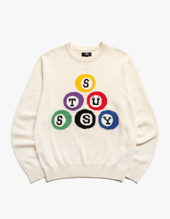 Stussy Stussy Billard Sweater - Natural | HEIGHTS. | 하이츠 온라인 스토어