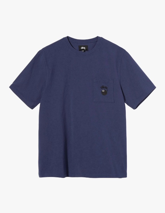 Stussy 8 Ball Pocket Crew - Navy | HEIGHTS. | 하이츠 온라인 스토어