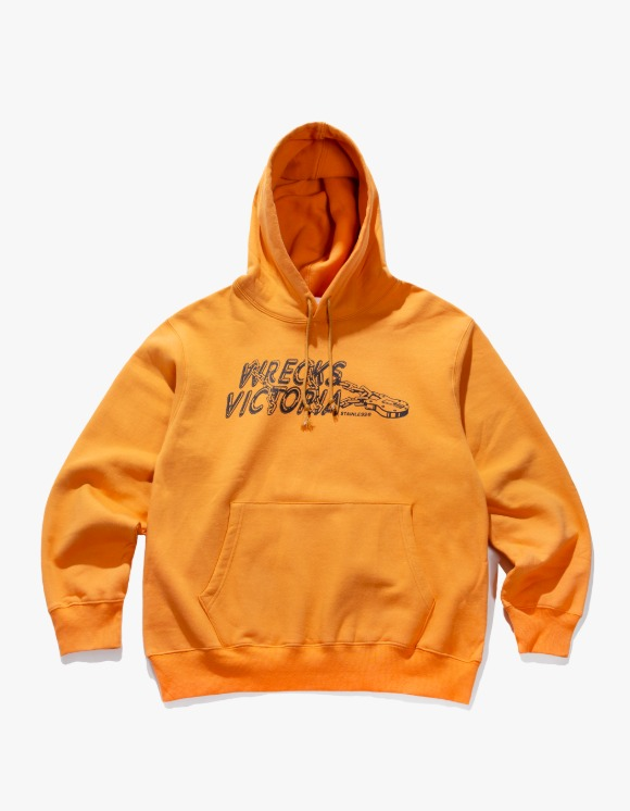 Victoria Hong Kong Stainless Hoodie - Mustard | HEIGHTS. | 하이츠 온라인 스토어