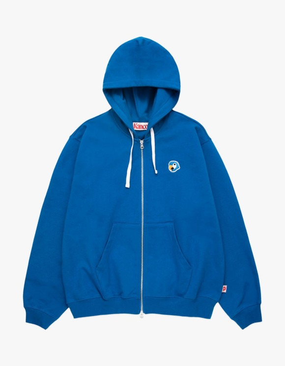 KANCO KANCO LOGO ZIP UP HOODIE blue | HEIGHTS. | 하이츠 온라인 스토어