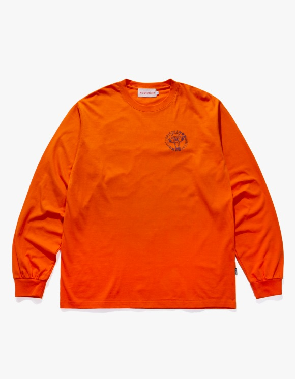 Victoria Hong Kong Please Call L/S T-shirt - Orange | HEIGHTS. | 하이츠 온라인 스토어