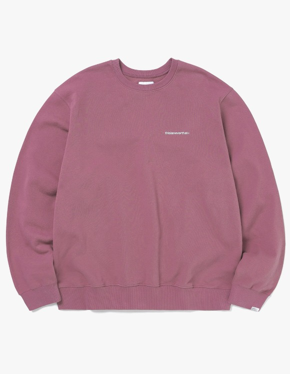 thisisneverthat Small T-Logo Crewneck - Dusty Rose | HEIGHTS. | 하이츠 온라인 스토어