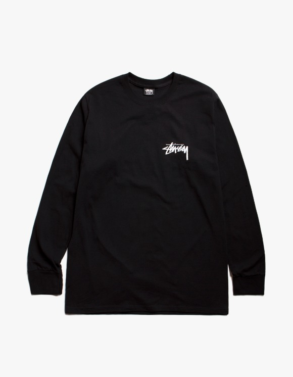 Stussy Spring Weeds Pig. Dyed L/S Tee - Black | HEIGHTS. | 하이츠 온라인 스토어