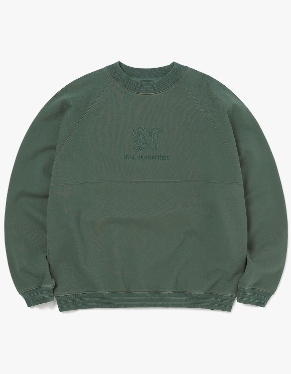 thisisneverthat Pipe RIB Crewneck - Dark Forest | HEIGHTS. | 하이츠 온라인 스토어