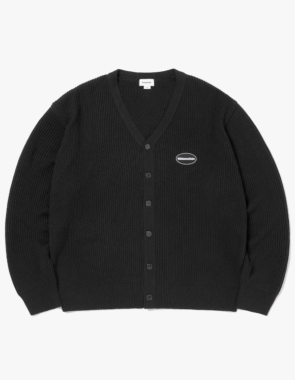 thisisneverthat E/T-Logo Rib Cardigan - Black | HEIGHTS. | 하이츠 온라인 스토어