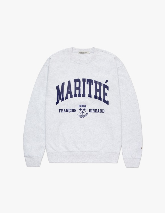 Marith+Franois Girbaud MARITHE COLLEGE SWEATSHIRT heather gray | HEIGHTS. | 하이츠 온라인 스토어