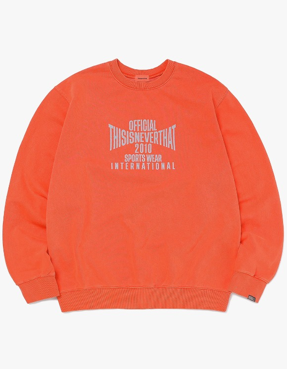 thisisneverthat Overdyed Sports Crewneck - Red | HEIGHTS. | 하이츠 온라인 스토어