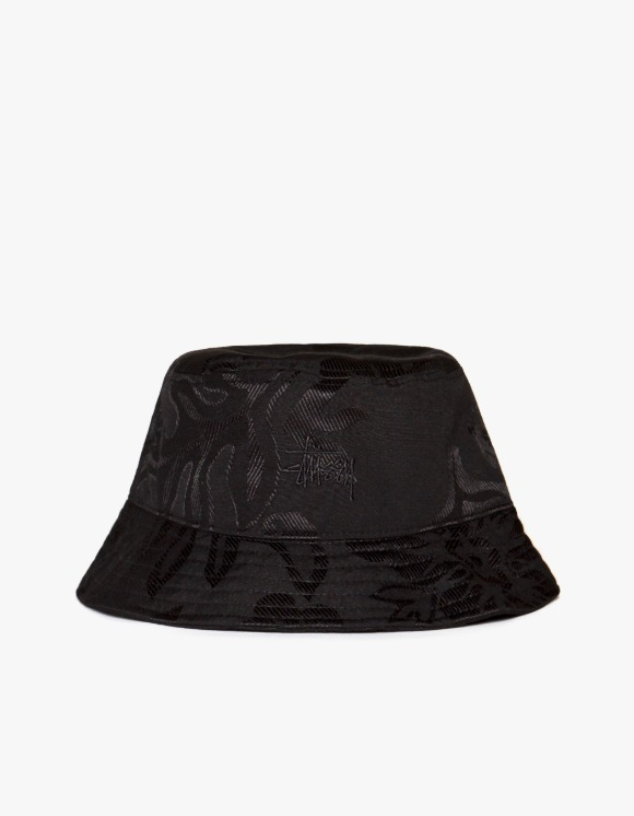 Stussy Jacquard Hawaiian Bucket Hat - Black | HEIGHTS. | 하이츠 온라인 스토어