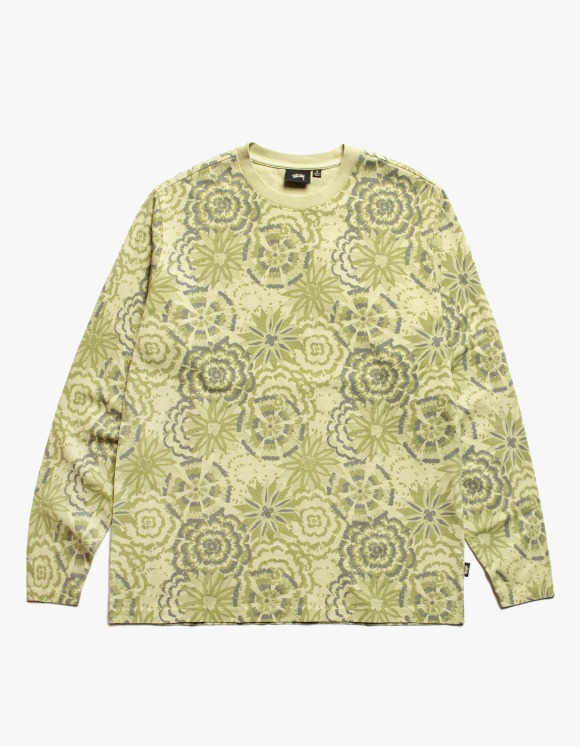 Stussy Flower L/S Crew - Lime | HEIGHTS. | 하이츠 온라인 스토어