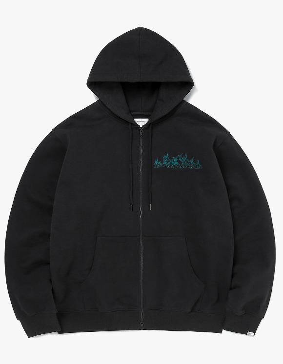 thisisneverthat Flame Zip Up Sweat - Black | HEIGHTS. | 하이츠 온라인 스토어