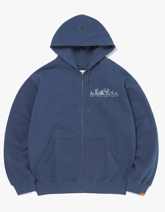 thisisneverthat Flame Zip Up Sweat - Navy | HEIGHTS. | 하이츠 온라인 스토어
