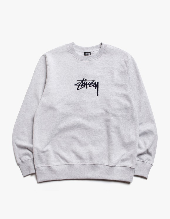 Stussy Stock App. Crew - Ash Heather | HEIGHTS. | 하이츠 온라인 스토어