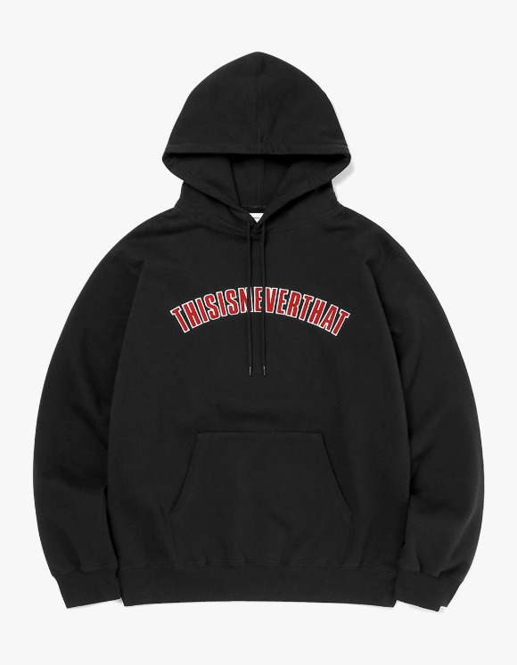 thisisneverthat NEW ARC Hooded Sweatshirt - Black | HEIGHTS. | 하이츠 온라인 스토어