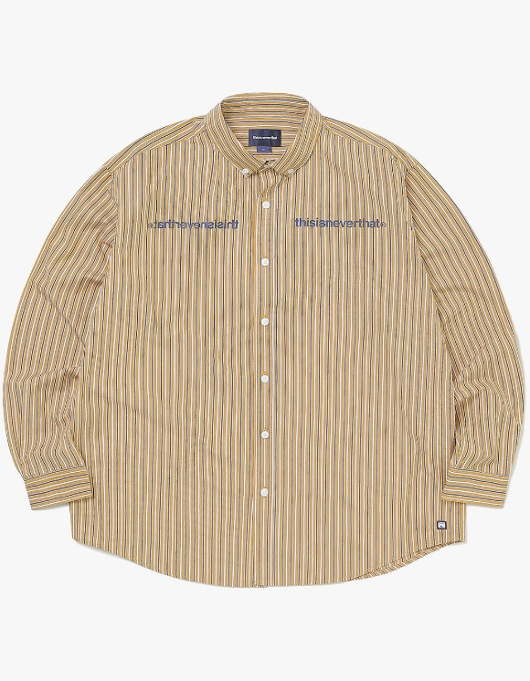 thisisneverthat MI-Logo Striped Shirt - Yellow | HEIGHTS. | 하이츠 온라인 스토어
