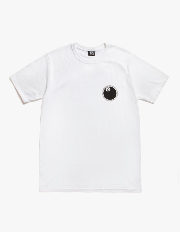 Stussy 8 Ball Dot Tee - White | HEIGHTS. | 하이츠 온라인 스토어