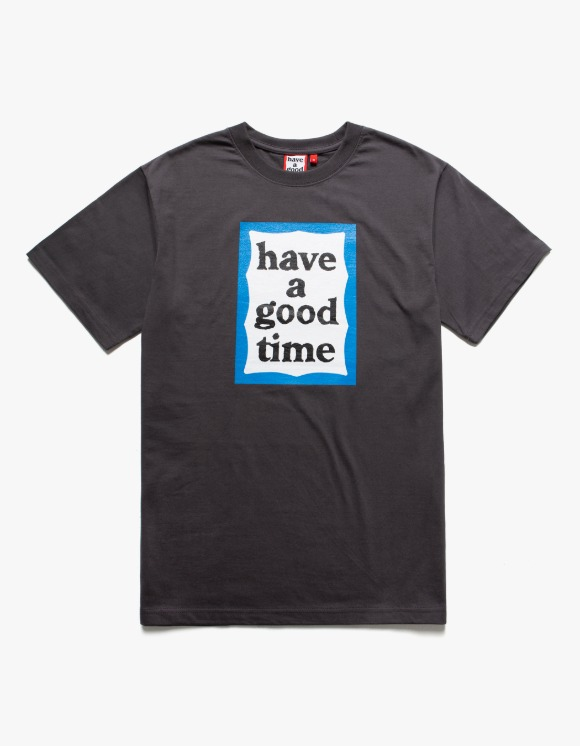 have a good time Blue Frame S/S Tee - Charcoal | HEIGHTS. | 하이츠 온라인 스토어