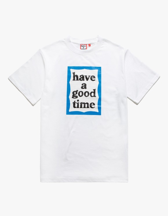 have a good time Blue Frame S/S Tee - White | HEIGHTS. | 하이츠 온라인 스토어