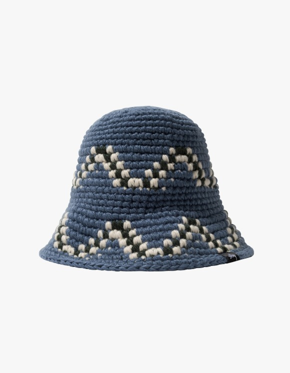 Stussy Giza Knit Bucket Hat - Blue | HEIGHTS. | 하이츠 온라인 스토어