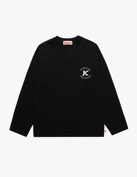 KANCO KANCO SERIF LONG SLEEVE TEE black | HEIGHTS. | 하이츠 온라인 스토어