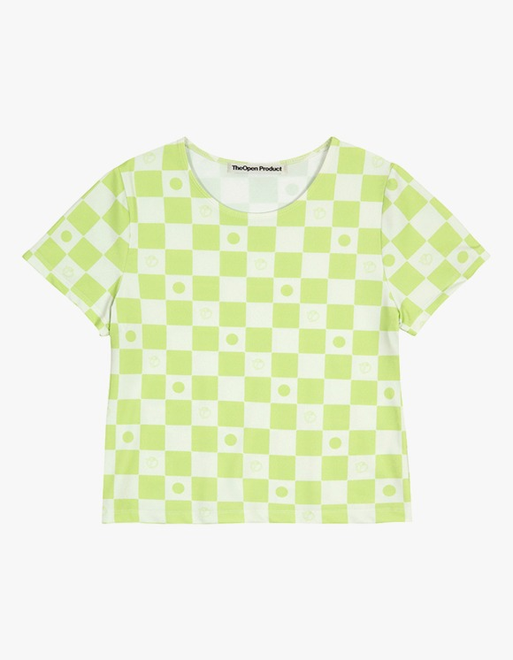TheOpen Product Symbol Pattern Stretch Half Sleeve Tee - Green | HEIGHTS. | 하이츠 온라인 스토어