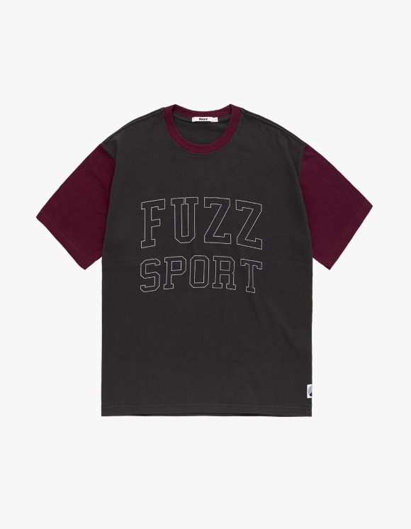Fuzz FUZZ COLOR BLOCK S/S TEE dark charcoal | HEIGHTS. | 하이츠 온라인 스토어