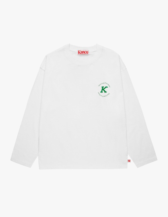 KANCO KANCO SERIF LONG SLEEVE TEE off white | HEIGHTS. | 하이츠 온라인 스토어