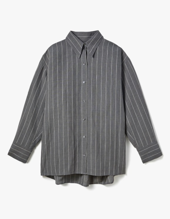 s/e/o Gray Linen Shirt - Multi | HEIGHTS. | 하이츠 온라인 스토어