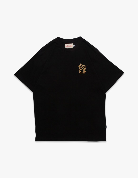 Victoria Hong Kong Queenhead Logo S/S Tee - Black | HEIGHTS. | 하이츠 온라인 스토어