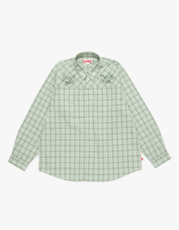 KANCO KANCO 2 POCKET CHECK SHIRT green | HEIGHTS. | 하이츠 온라인 스토어