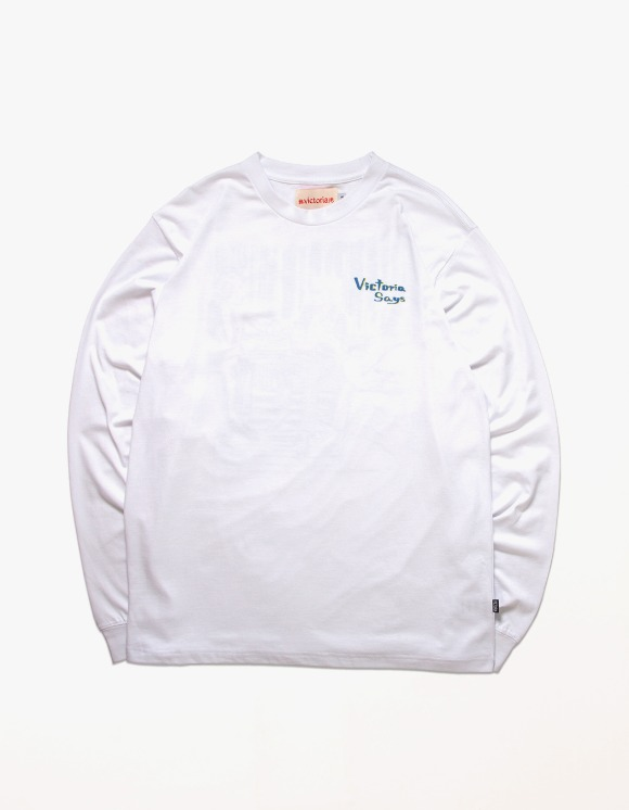 Victoria Hong Kong Lou L/S Tee - White | HEIGHTS. | 하이츠 온라인 스토어