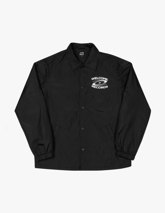 Welcome Records Coach Jacket - Black | HEIGHTS. | 하이츠 온라인 스토어