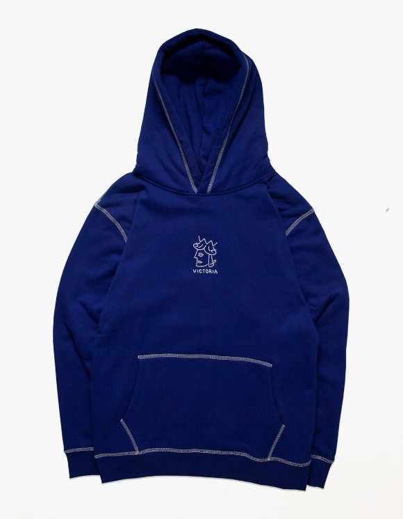 Victoria Hong Kong QH Embroidered Hoodie - Royal Blue | HEIGHTS. | 하이츠 온라인 스토어