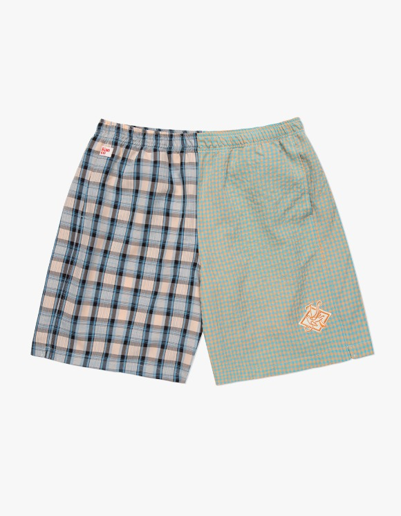 KANCO KANCO CHECK SHORTS blue/orange | HEIGHTS. | 하이츠 온라인 스토어
