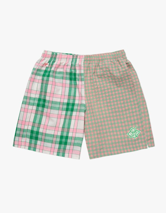 KANCO KANCO CHECK SHORTS green/pink | HEIGHTS. | 하이츠 온라인 스토어