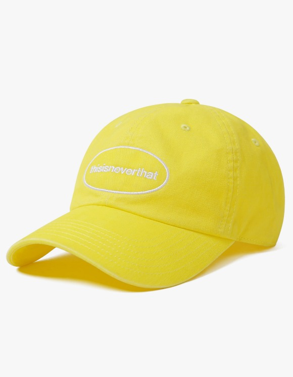thisisneverthat Overdyed E/T-Logo Cap - Yellow | HEIGHTS. | 하이츠 온라인 스토어