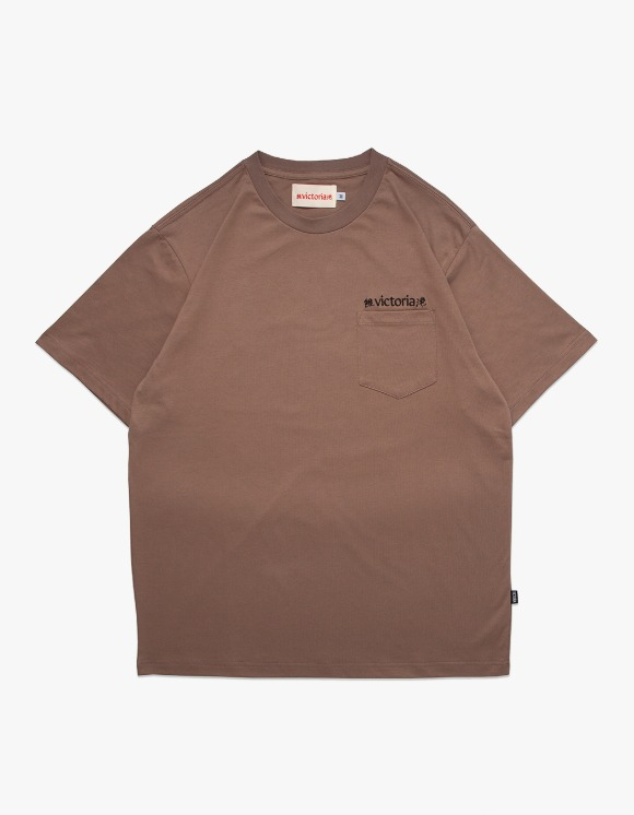 Victoria Hong Kong Linguistic S/S Tee - Tan | HEIGHTS. | 하이츠 온라인 스토어