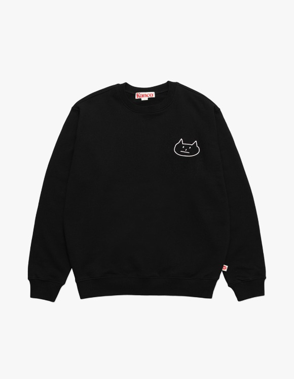 KANCO KANCO CAT SWEATSHIRT black | HEIGHTS. | 하이츠 온라인 스토어