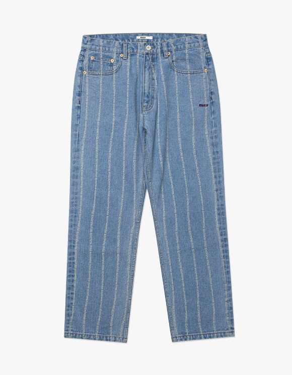 Fuzz FUZZ 001 STONE WASHED STRIPE JEAN light blue | HEIGHTS. | 하이츠 온라인 스토어