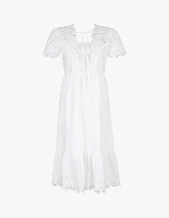 Margarin Fingers Eyelet Lace Dress - White | HEIGHTS. | 하이츠 온라인 스토어