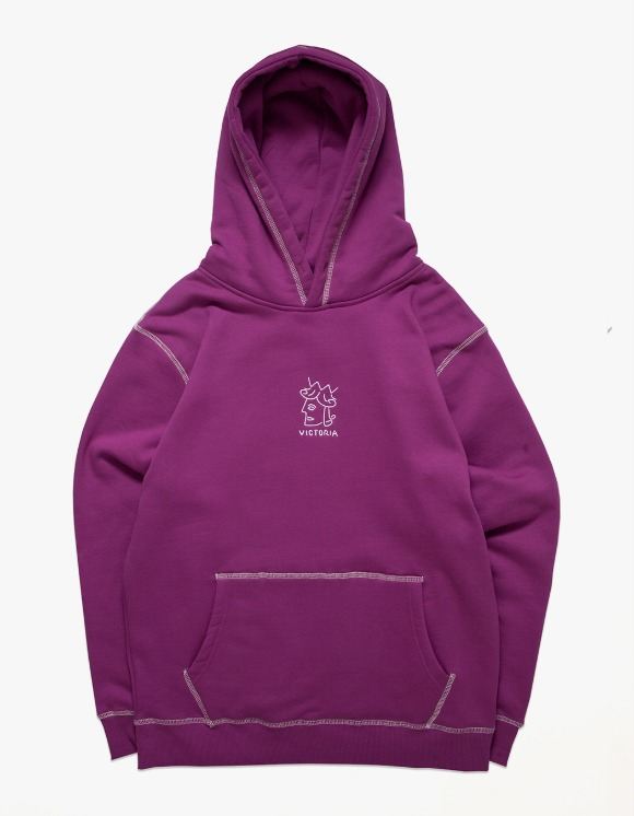 Victoria Hong Kong QH Embroidered Hoodie - Purple | HEIGHTS. | 하이츠 온라인 스토어