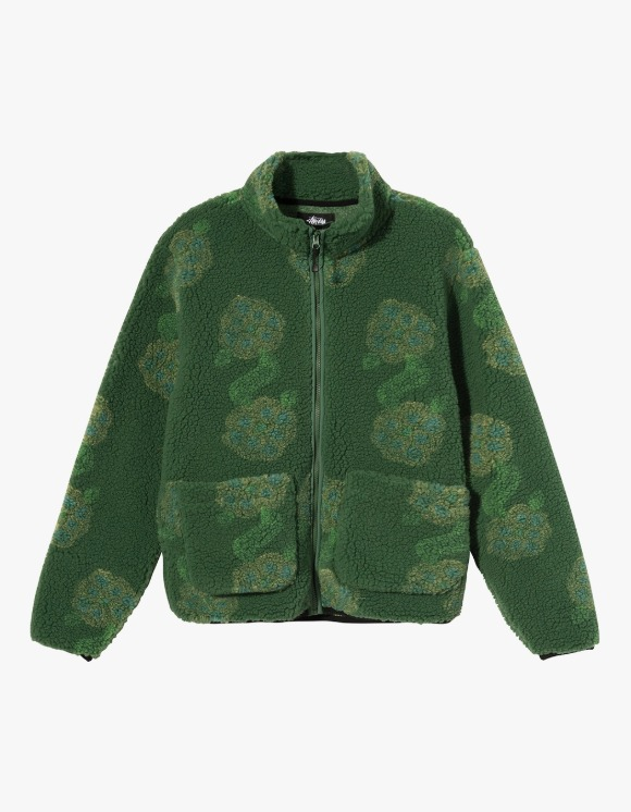 Stussy Flor Sherpa Mock Neck - Green | HEIGHTS. | 하이츠 온라인 스토어