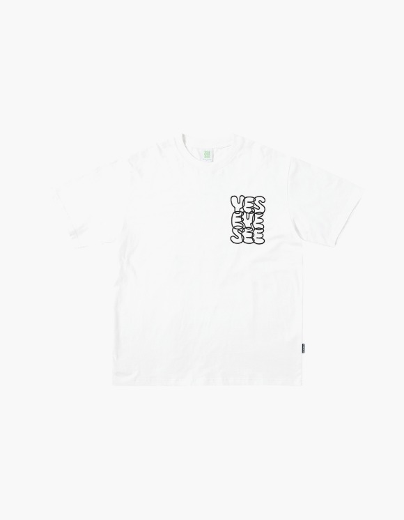 yeseyesee Y.E.S C-logo tee - White | HEIGHTS. | 하이츠 온라인 스토어