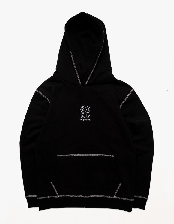 Victoria Hong Kong QH Embroidered Hoodie - Black | HEIGHTS. | 하이츠 온라인 스토어